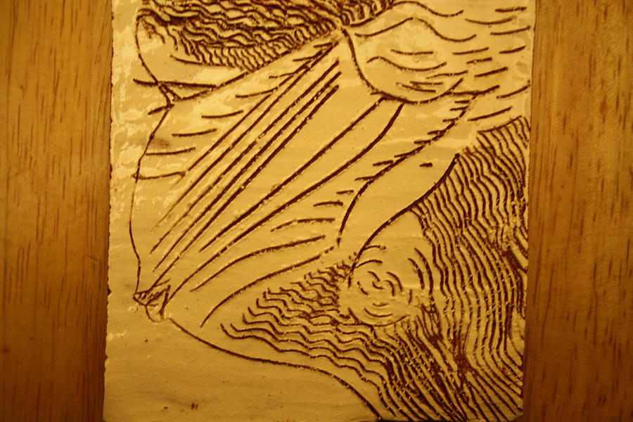Jesus Ceramic Art - I See - Tile by Gloria Ssali