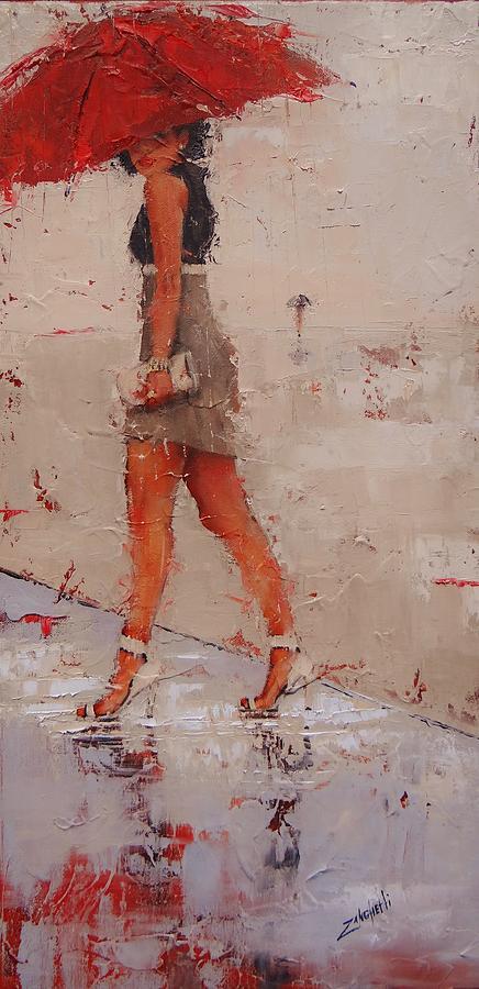 Rain Painting - I See You by Laura Lee Zanghetti