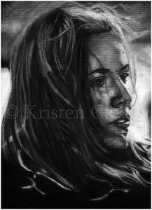 Portrait Drawing - I Shall Believe by Kristen Gavula