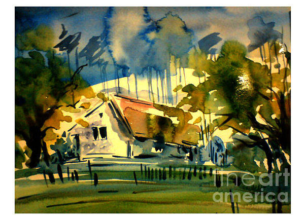Landscape Painting - I by Sijimon Siddique