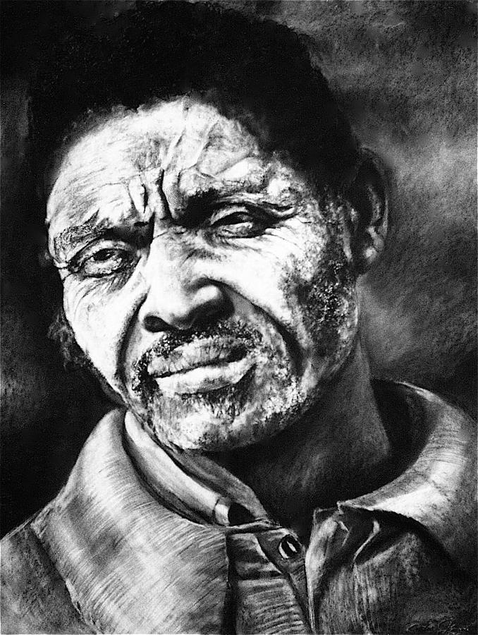 Charcoal Drawing - I Surrender Lord by Curtis James