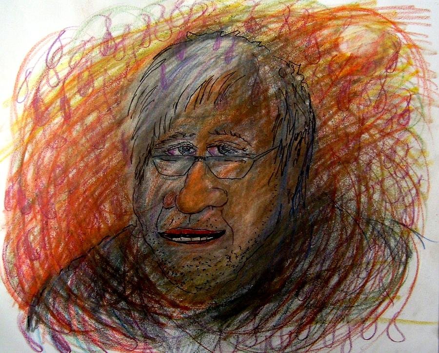Portrait Drawing - I Think This Is What He May Of Look Like by Richard  Hubal