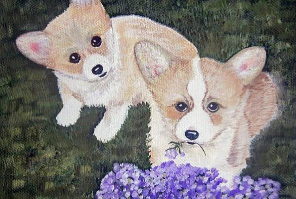 Animals Painting - I Told Him Not To Eat That by Judith Barraza