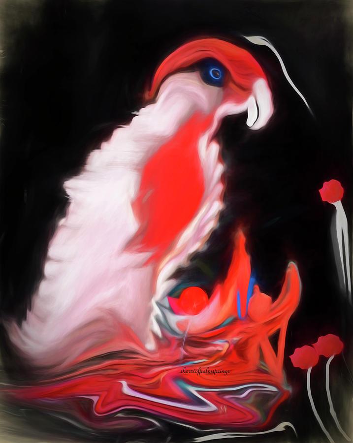 Bird Digital Art - I Want A Cracker by Sherris - Of Palm Springs