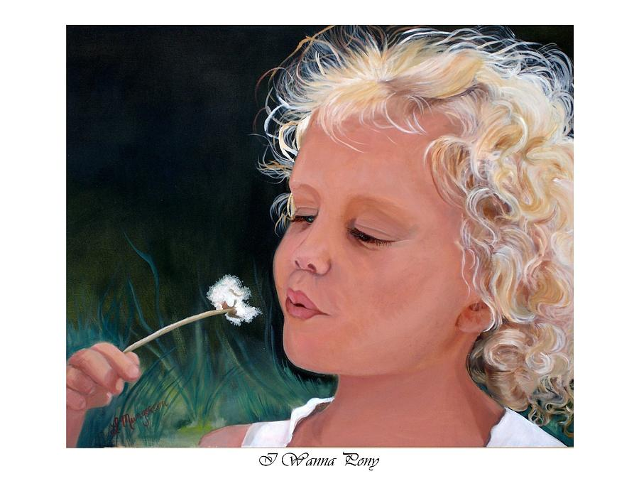 People Painting - I want a pony by Linda Mungerson