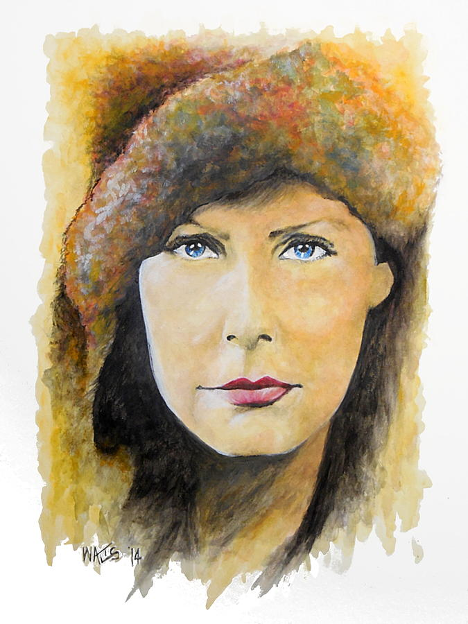 Garbo Painting - I Want To Be Alone - Garbo by William Walts