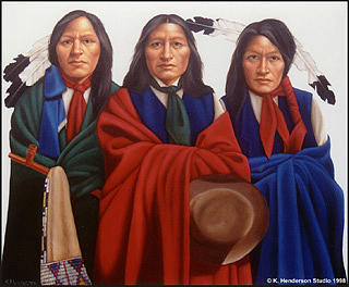 American Indian Painting - I Want To Believe - American Indian by K Henderson