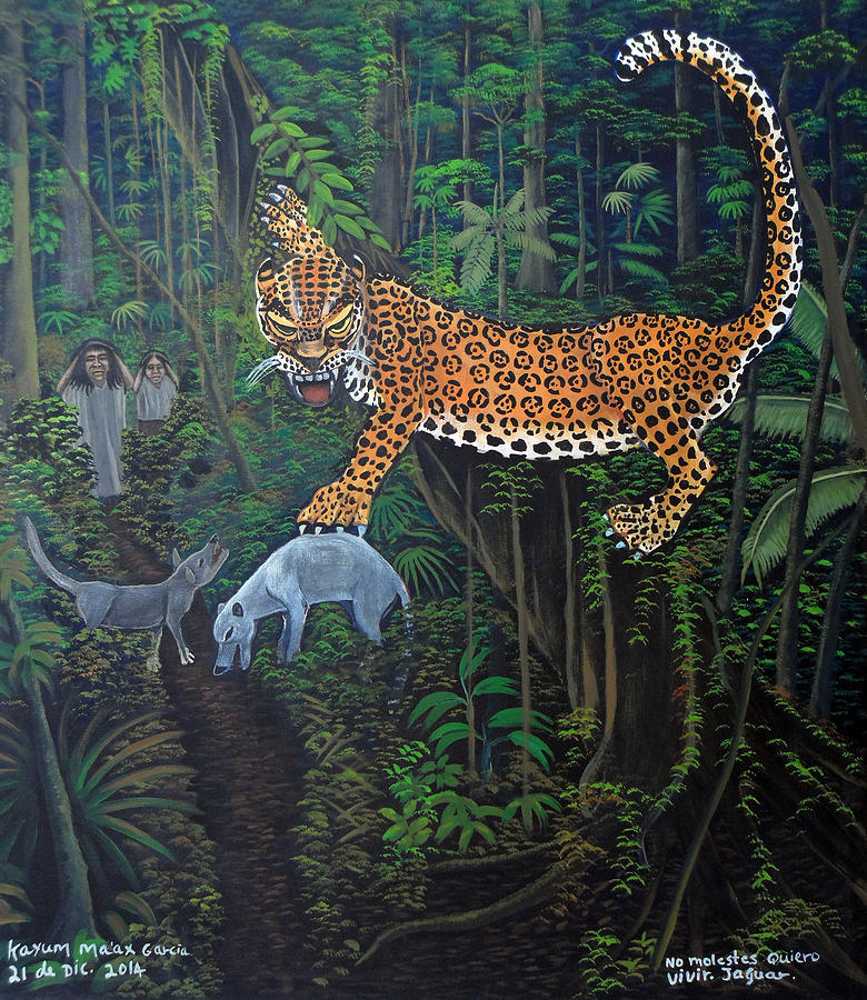 Indigenous Painting - I Want To Live Jaguar by Kayum Maax Garcia