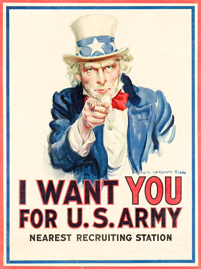 Us Army Photograph - I Want You For Us Army - War Poster by Restored archives