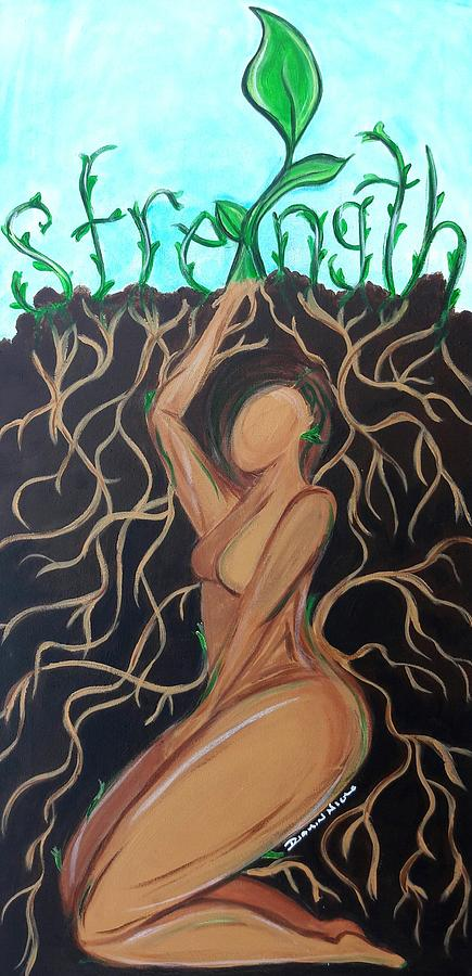 Seed Painting - I Was A Seed by Diamin Nicole