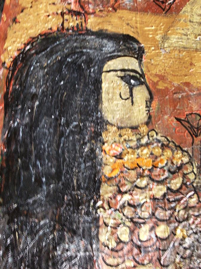 Egypt Mixed Media - I Was An Egyptian Queen Unfinished by Anne-Elizabeth Whiteway