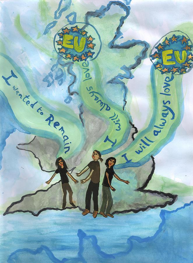 Brexit Painting - I Will Always Love Eu by Sushila Burgess