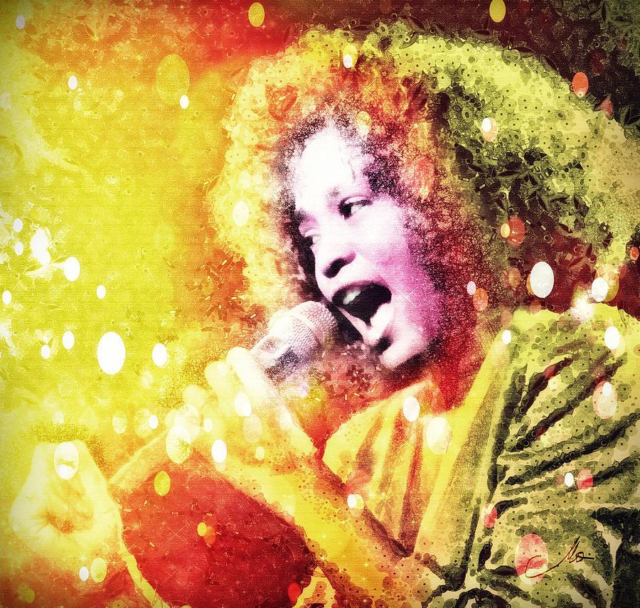Whitney Houston Digital Art - I Will Always Love You by Mo T