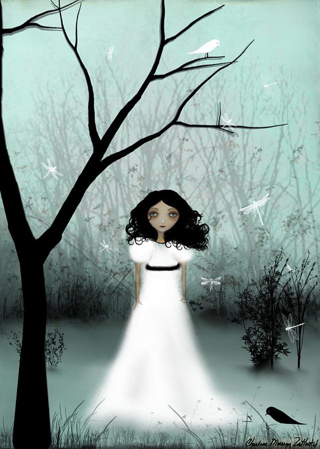 Girl Digital Art - I Will Be Your Light by Charlene Zatloukal