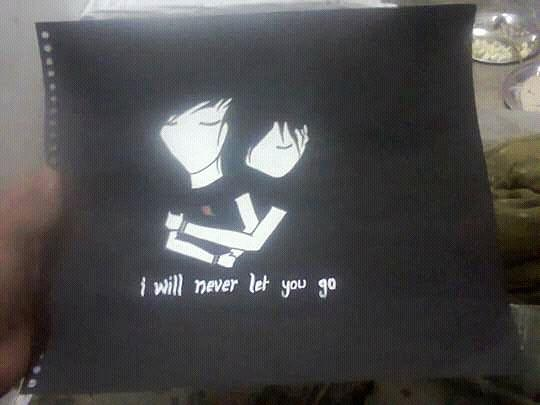 I Will Never Let U Go.......... Drawing by Madhusudan Bishnoi