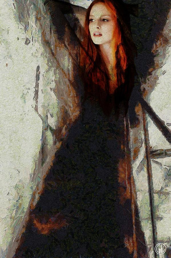 Woman Digital Art - I Will Not Let Darkness Conquer Me by Gun Legler