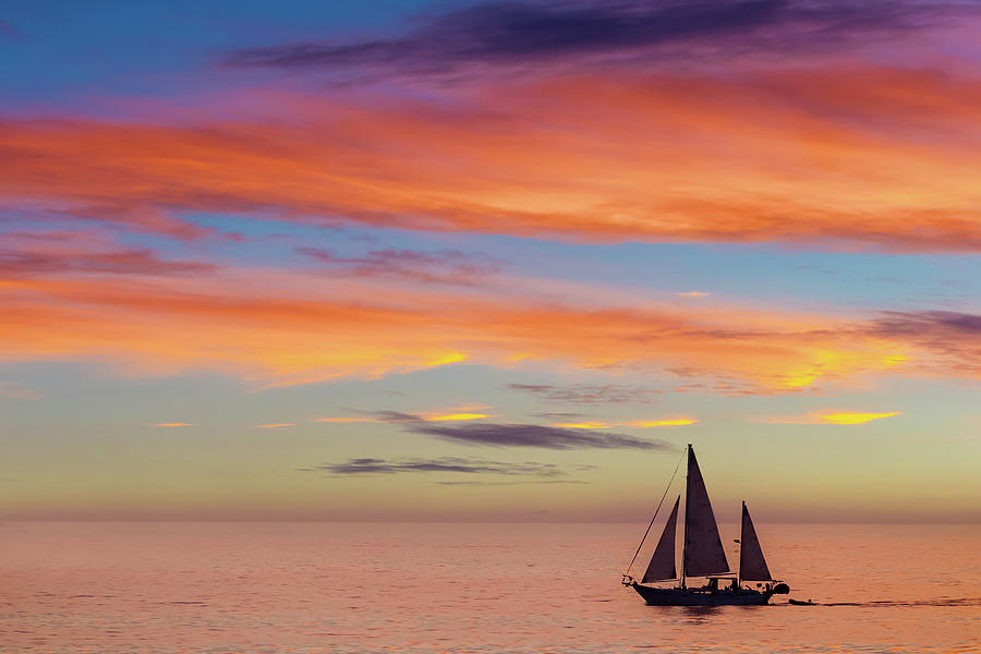 Beach Photograph - I Will Sail Away, and Take your Heart With Me by Peter Tellone