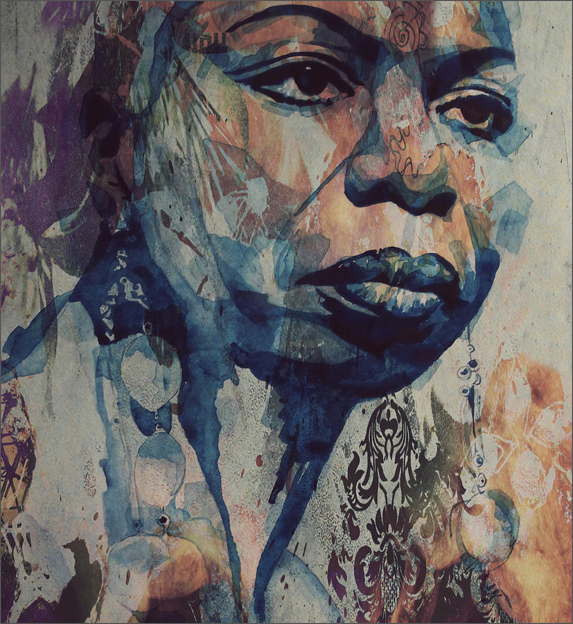 Nina Simone Mixed Media - I Wish I Knew How It Would Be  Feel To Be Free by Paul Lovering