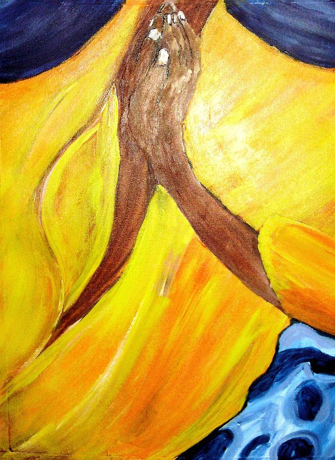 Prayer Painting - I Wonder If I Pray  by Shelley Bain