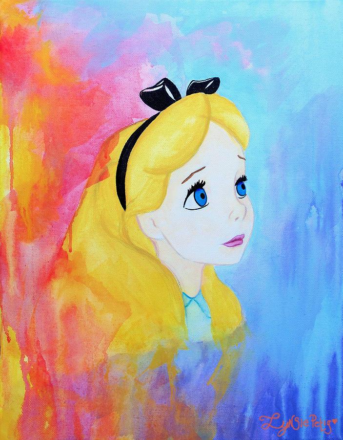 Artist Painting - I Wonder by Lynsie Petig