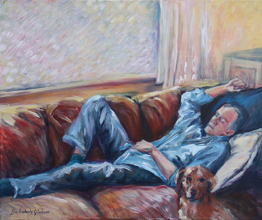 Man Painting - Ian And Foster by Lisa Kimberly Glickman