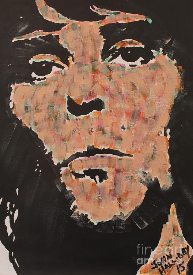 Icon Painting - Ian Brown Stone Roses by John Halliday