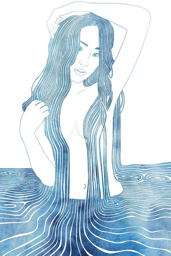 Aqua Mixed Media - Ianeria by Stevyn Llewellyn