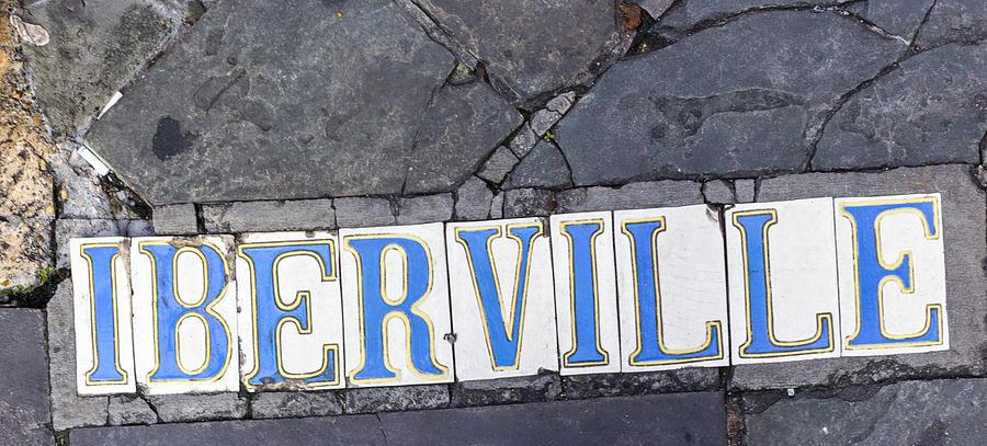 Iberville Street Sidewalk sign by Gregory Scott