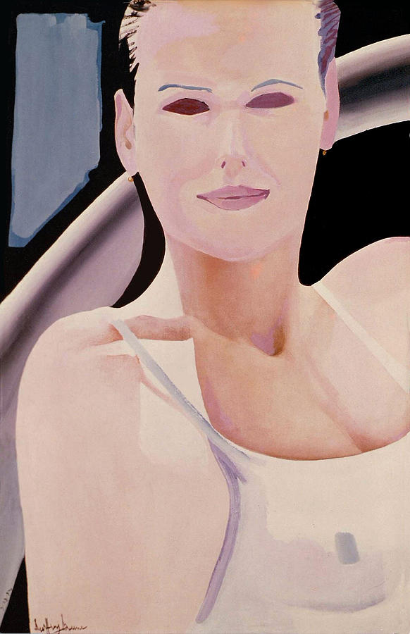 Wet Painting - Ibiza Woman Number One by Geoff Greene