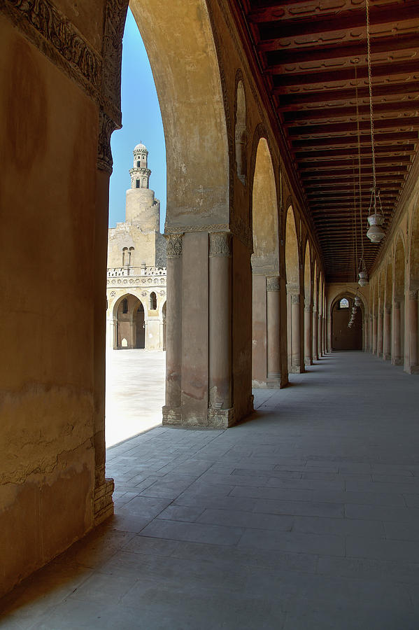 Cairo Photograph - Ibn Tulun Great Mosque by Nigel Fletcher-Jones