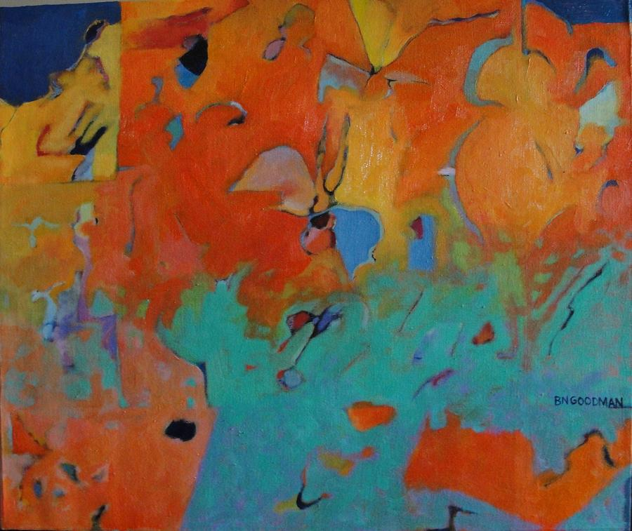 Abstract Painting - Icarus Descent II by Bernard Goodman