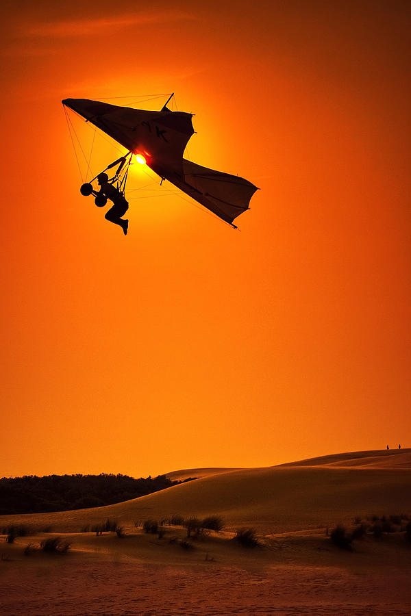 Hang Glider Photograph - Icarus by Neil Shapiro