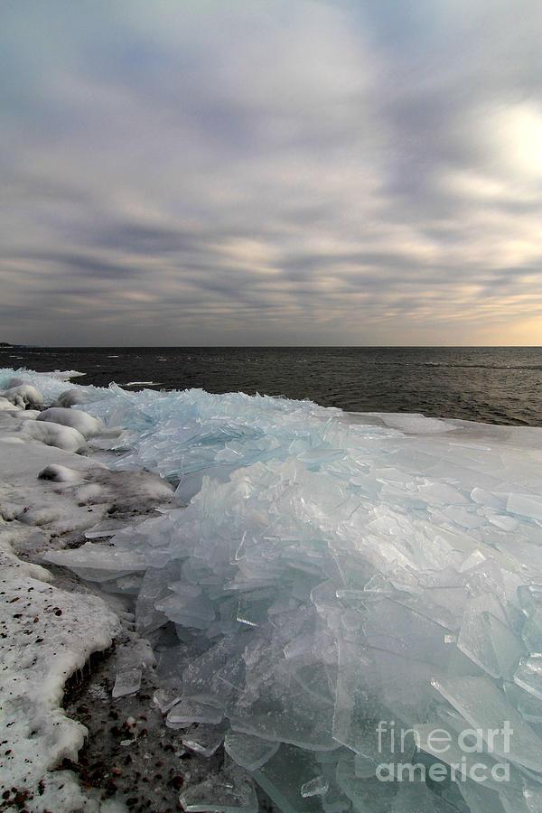 Ice Shove Photograph - Ice 2018 # 7 by Rick Rauzi