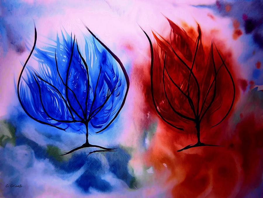 Ice and Fire Trees by Carol Crisafi