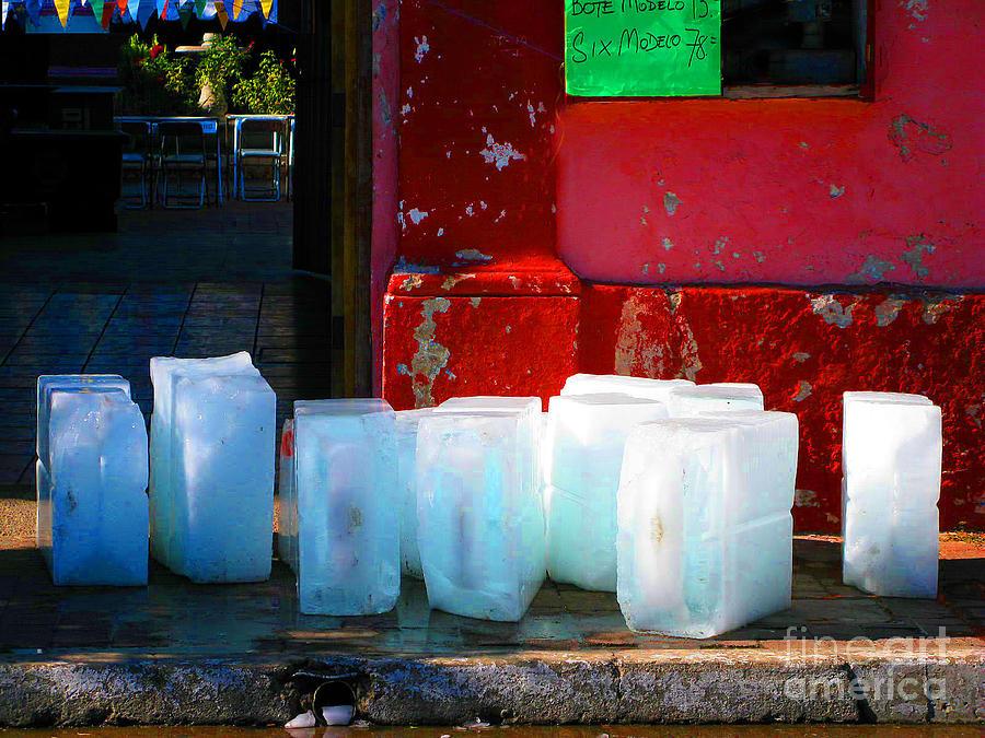 Michael Fitzpatrick Photograph - Ice Blocks By Michael Fitzpatrick by Mexicolors Art Photography