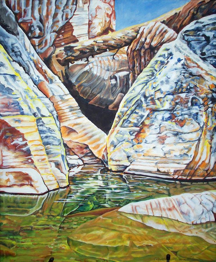 Ice Box Canyon Painting by Matthew Milone