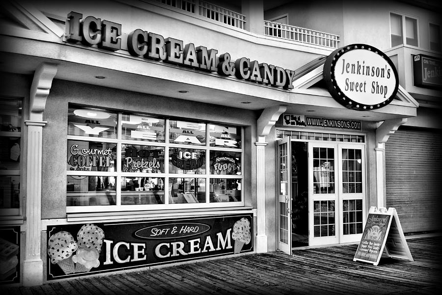 Jersey shore photograph ice cream and candy shop at the boardwalk jersey shore by