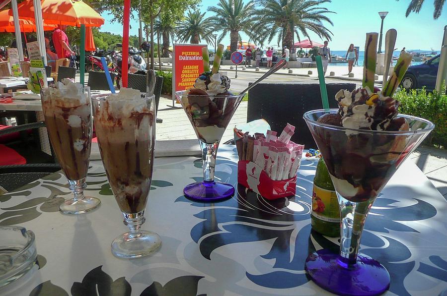 Ice Cream Photograph - Ice Cream And Cocktails by Olga Kurygina