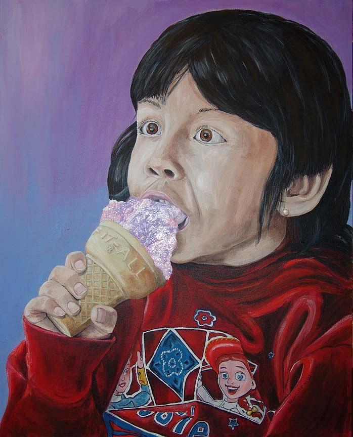 Kevin Callahan Painting - Ice Cream by Kevin Callahan
