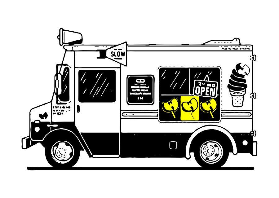 d614c6bdd Ice Cream Truck Drawing by Ger Burr