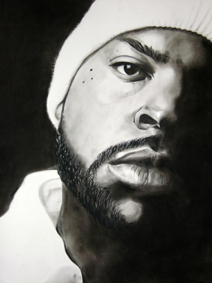 Ice Cube Drawing by Ania Kuchta