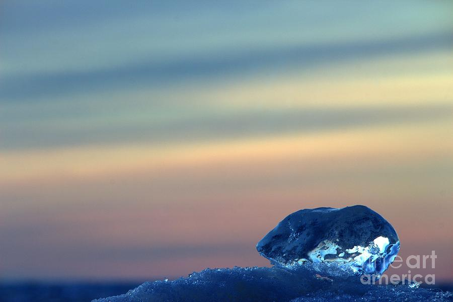 Grand Bend Photograph - Ice Cube Sky 3 by John Scatcherd