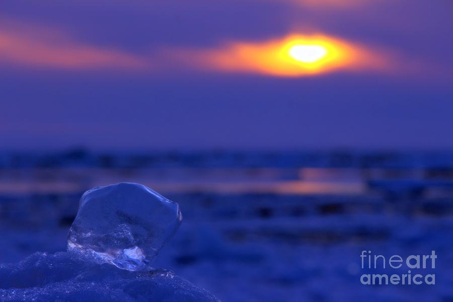 Grand Bend Photograph - Ice Cube Sky by John Scatcherd
