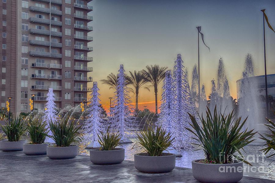 Long Beach Photograph - Ice Cycles At Sunset by David Zanzinger