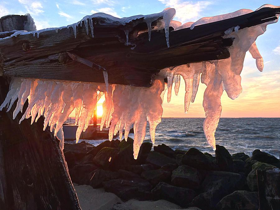 Ice Fangs Photograph by Kristopher Schoenleber