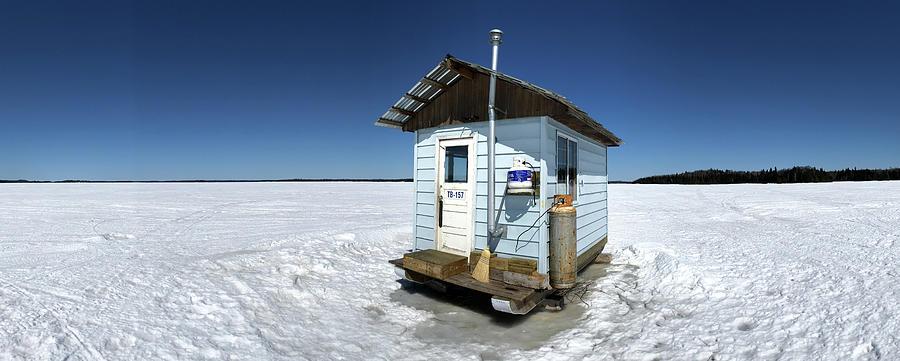 Ice Fishing Photograph - Ice FIshing Shack by Jakub Sisak