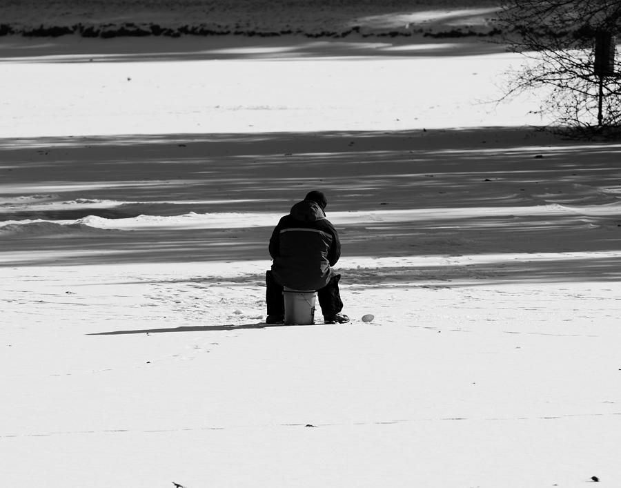 Ice Fishing Photograph - Ice Fishing by Steve Bell