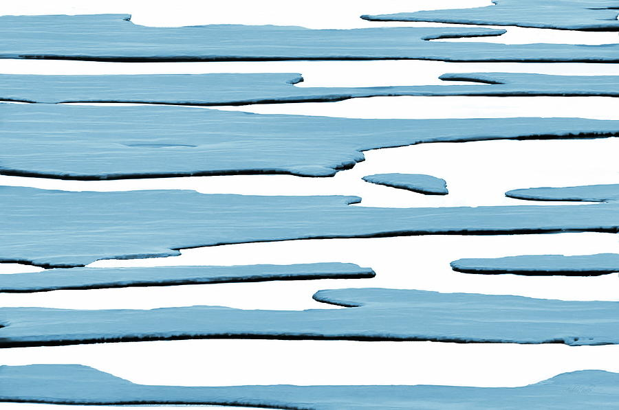 Ice Photograph - Ice Flow by Andrea Kollo