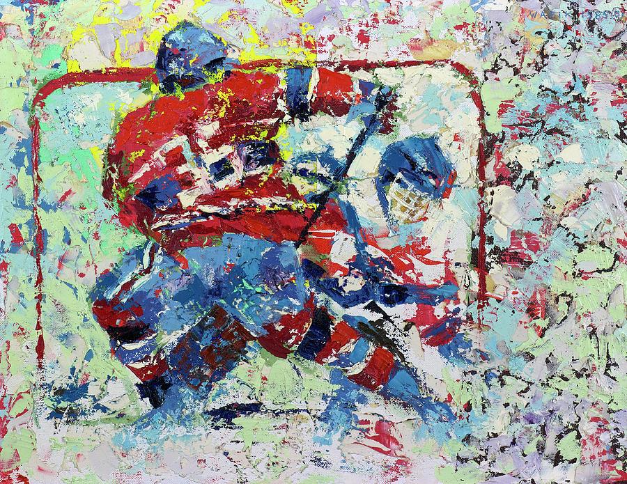 Ice Hockey Painting - Ice Hockey No1 by Walter Fahmy