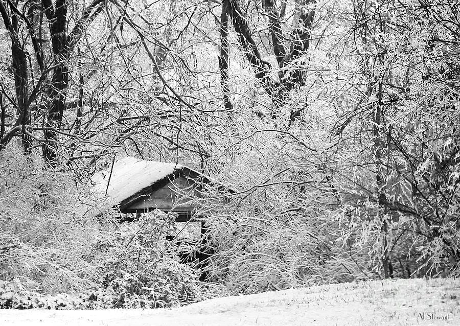 Snow Photograph - Ice Hollow by Albert Stewart